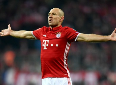 Bayern Munich attacker Arjen Robben
