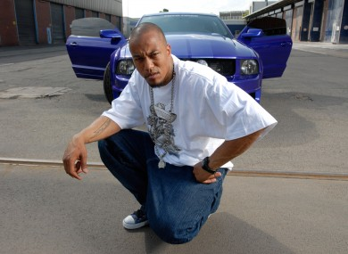 An archive picture, dated 20 June 2005, shows the former rapper Deso Dogg (real name: Denis Cuspert) posing in Berlin.