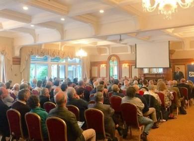 Leo Varadkar speaking to Fine Gael party members in Wicklow this evening.