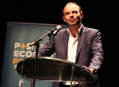 France's new Prime Minister Edouard Philippe.