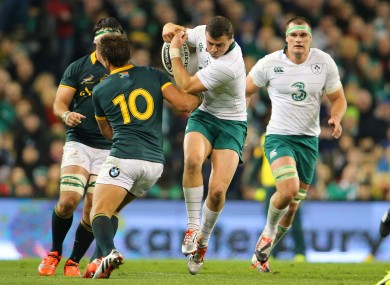 Robbie Henshaw in action against South Africa back in 2014.