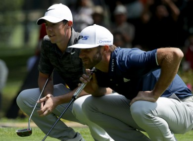 Rory McIlroy (left) and Dustin Johnson.