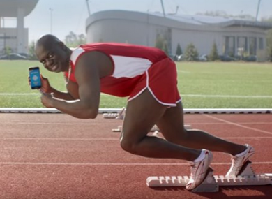 Ben Johnson in the controversial ad.