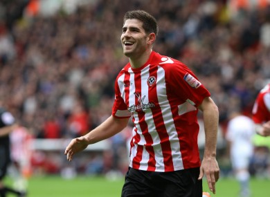 Evans previously scored 48 goals for the Blades.