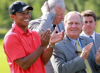 Tiger Woods and Jack Nicklaus.