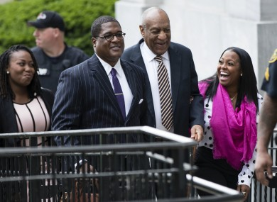 Bill Cosby arriving to court.
