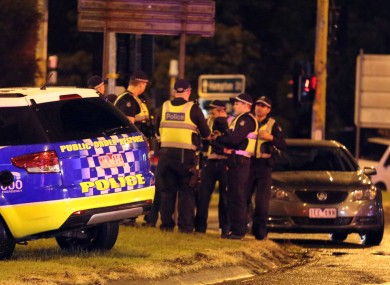 Police close to the scene in Melbourne