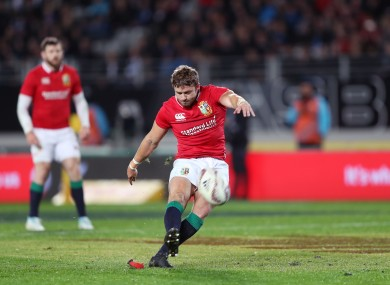 Halfpenny is currently in New Zealand with the Lions.