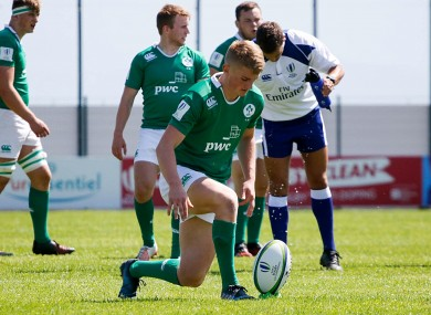 Conor Fitzgerald kicked Ireland's three points against New Zealand.
