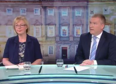 Fine Gael's Regina Doherty and Fianna Fáil's Michael McGrath