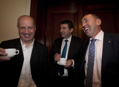 Jim Daly, Brendan Griffin and Pat Deering during the Fine Gael think-in last year.