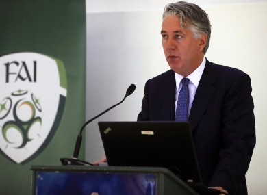 FAI chief executive John Delaney.