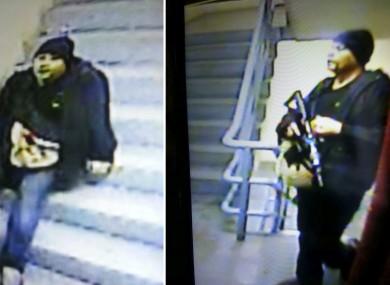 CCTV footage of the gunman