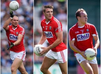 Alan O'Connor, Aidan Walsh and Brian O'Driscoll.