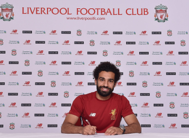 Mohammed Salah signs on the dotted line.