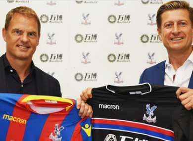 Frank de Boer is the new Palace manager.
