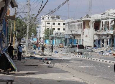 File photo of Mogadishu from an attack in January of this year.