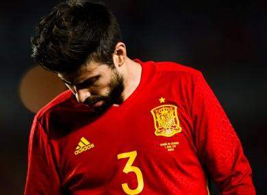 Spain defender Gerard Pique.
