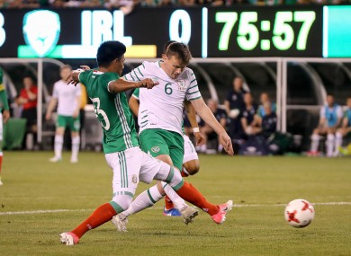 Stephen Gleeson scores Ireland's only goal.
