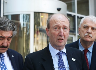 TD John Halligan, Minister for Transport, Shane Ross and TD Finian McGrath.
