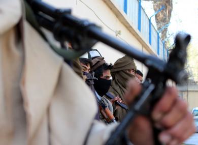 File photo of former Taliban members.