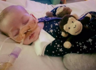 The terminally ill child is 11 months old.