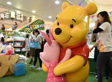 A Winnie the Pooh exhibition in Hong Kong earlier this year.