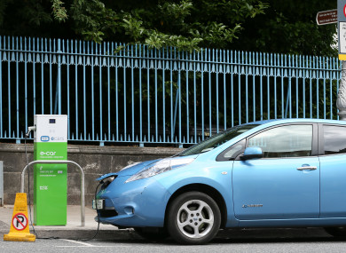 Electric car charging station in Dublin
