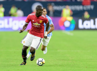 Bailly in action against Man City last week.