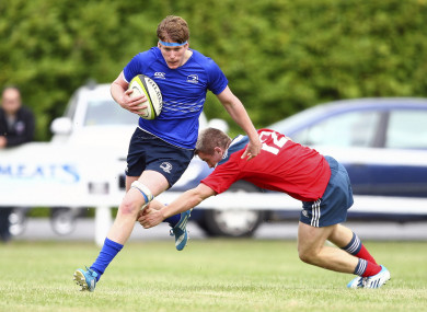 Regan in Leinster U18 action against Munster.