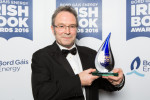 Mike McCormack after winning his Bord Gáis Energy Irish Book Award.