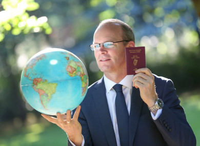 Minister Simon Coveney gives some advice to those looking to apply for passports.