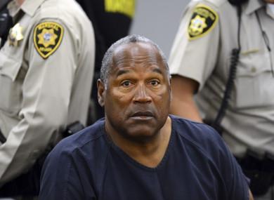 OJ Simpson at a previous parole hearing.