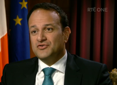 Varadkar on RTÉ's Prime Time last night.