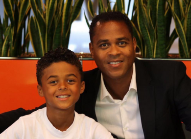 Patrick Kluivert with his son Shane.