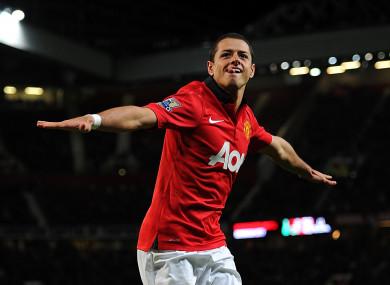 Hernandez: 59 goals for United (file photo).