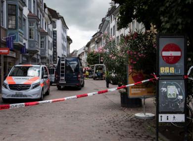 Police have shut down the town of Schaffhausen