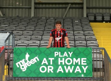 Casey pictured at Dalymount Park earlier.