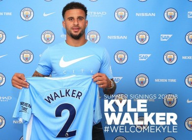 Walker will wear the number two shirt.