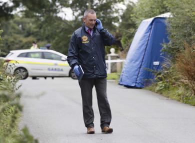 Garda at the crime scene