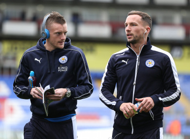 Chelsea bound? Jamie Vardy and Danny Drinkwater.