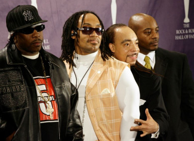 From left: Band members Scorpio, Melle Mel, Kidd Creole and Rahiem at the Rock & Roll Hall of Fame induction ceremony in New York in 2007