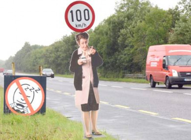 The Mrs Doyle signs were stolen on the N5 and N17 roads.