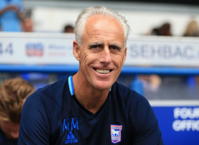 McCarthy is embarking on his fifth season in charge of Ipswich.