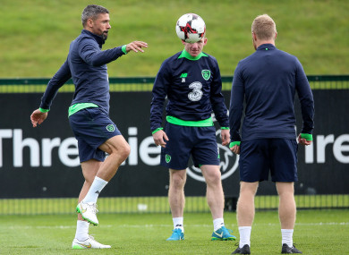 Jon Walters pictured during Ireland training.