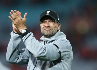 Klopp says the Reds will be aiming high.