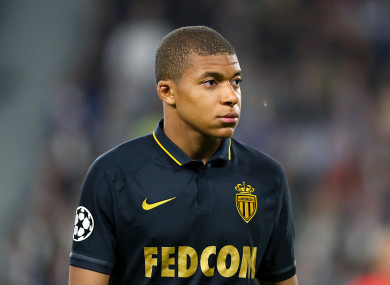 Mbappe was left out of Monaco's squad for their win against Metz last Friday.