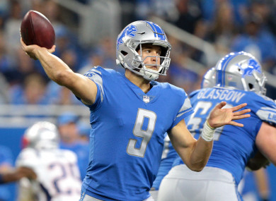 Stafford is the man the Lions have invested their future in.