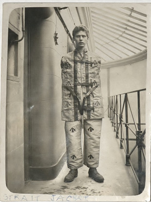 This photo was taken by the Howard league during a visit to Wakefield Prison in 1904.