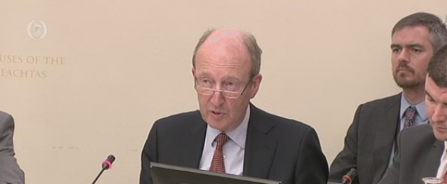 Minister Shane Ross at the committee today